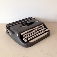 Royal Typewriter in Grey from the 1940s Royal Ensign Works Straight Out of the Box