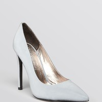 Jeffrey Campbell Pointed Toe Pumps - Pointy Reflective High Heel