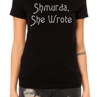 The Shmurda She Wrote Tee in Black