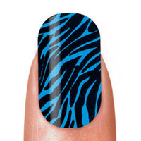 Cala NAIL STRIPS Stick On Polish BLUE ZEBRA