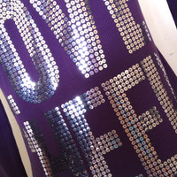 Love Cheer Purple Silver Sequin Hoodie Jacket