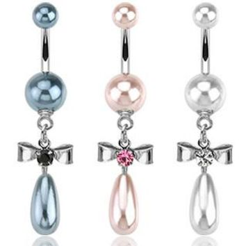 Belly Ring-Pearl Droplet