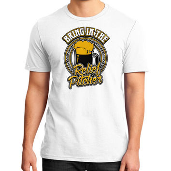 Bring in the relief pitcher District T-Shirt (on man)