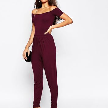 ASOS Bardot Jumpsuit with Peg Leg