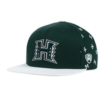 Hawaii Warriors Top of the World NCAA All Flocking SnapBack Cap