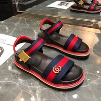 GUCCILadies bees sandals beach shoes-3
