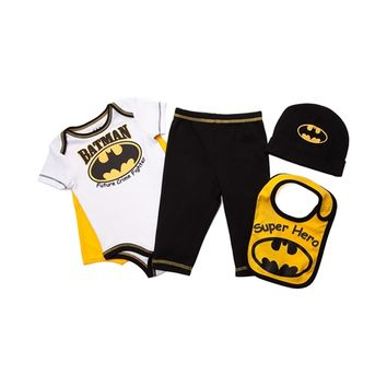 Infant Batman 5 Piece Sleeper Set