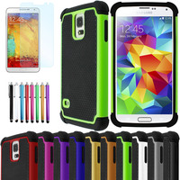 Heavy Duty Impact Rugged Hard Case Cover Screen Protector For SAMSUNG Galaxy S5
