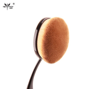2016 New Makeup Tools Big Oval Tooth Brush Style Foundation Powder Blush Makeup Brushes High Quality Make Up Brushes
