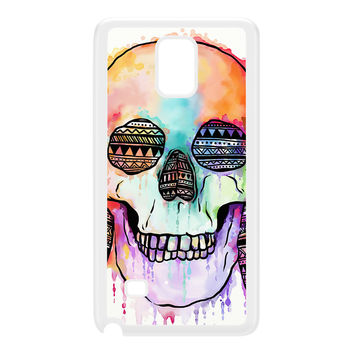 Watercolour Skull I White Hard Plastic Case for Galaxy Note 4 by UltraCases