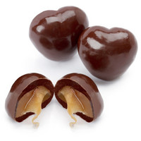 Milk Chocolate Covered Caramel Hearts Candy: 5LB Bag