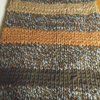 Hand Knit Blanket, Brown Blanket, Chunky Knit Blanket, Giant Knit, Extreme Knitting, Super Chunky Knit, ready to ship, Bulky Throw