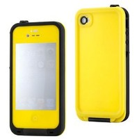 GEARONIC Yellow Waterproof Shockproof Full Body Skin Case Cover Pouch for iPhone 4 4S 4G, Multi Purpose Protective Skin for water, shock, snow, dirt
