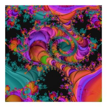 Fluidic Infused Double Helix V 3  Art Print