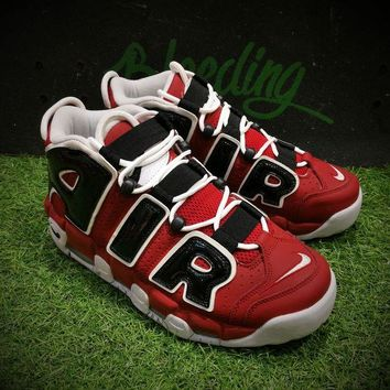 DCC3W Nike Air More Uptempo OG Asia Hoop Pack Sport Baskerball Shoes Black Red White Sneaker 415082-600