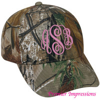 Monogrammed CAMO HAT for Women Monogrammed by PremierImpressions