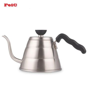 FeiC 1pc 1.0L Hario Style V60 Tea and Coffee Drip Kettle pot stainless steel gooseneck spout Kettle hot water for Barista
