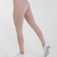 Gymshark Sleek Sculpture Leggings 2.0 - Chalk Taupe