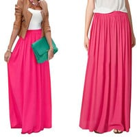 SK71 Long Skirt Elegant Style Women Pastel Volume Candy Coloured Pleated chiffon Maxi Skirts in floor 80,90,100cm length