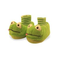 Frog Toddler Sock Top Bootie Green Slippers