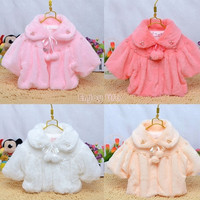 2015 New Baby children's clothing baby Cute cloak infant Faux Fur coat Girls Outwear = 1932482820