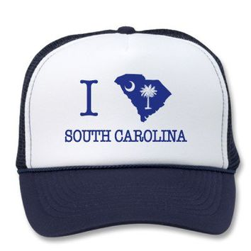 I Love South Carolina Trucker Hat from Zazzle.com