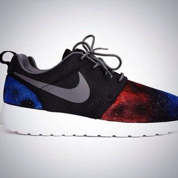 Galaxy Roshe Made to Order Men's Nike Rosherun Shoes Custom Hand Painted