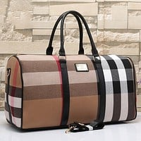 Burberry Women Fashion Leather Satchel Shoulder Bag Handbag Crossbody