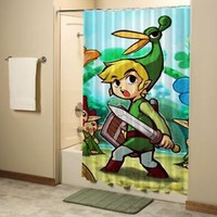 Legend of Zelda Triforce Games Shower Curtain High Quality Bathroom 60x72 Inch
