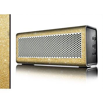 The Gold Glitter Ultra Metallic Skin for the Braven 570 Wireless Bluetooth Speaker