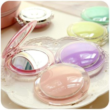 Girl Mini Pocket Makeup Mirror Cosmetic Compact Mirrors Portable Double Dual Sides Acrylic Frame Cosmetic Makeup Mirrors P2