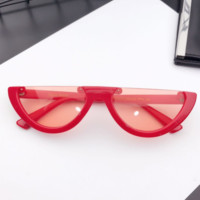 Eyecandy Half Frame Sunglasses - Red/red