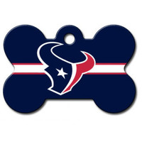 Houston Texans NFL Custom Engraved Dog ID Tag - Bone
