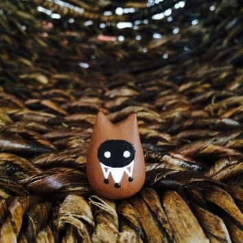 Fox Tieke - Polymer Clay Animal Totem