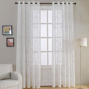 Window Sheer Curtains Panel, Paris