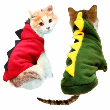 Warm Winter Cat Clothes Pet Costume For Cat Dragon Costume Up Clothing Coat Hoodies Teddy Jersey Cat Clothes