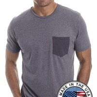 Men's Eco-friendly Crew T-shirt with contrast pocket
