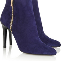 Lanvin Suede ankle boots – 60% at THE OUTNET.COM