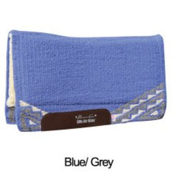 Professional's Choice Western Air Ride Saddle Pad Comfort Fit SMx H.D. in Alpine Blue and Gray AXHDX 33x38