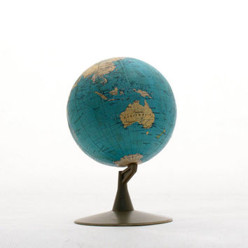 Vintage World Globe 80s  diameter 5 inch