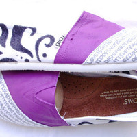 The Kaylee - Purple and White Custom TOMS