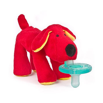 Wubbanub Infant Plush Toy Pacifier Red Dog