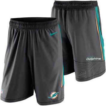Miami Dolphins Nike Speed Vent Performance Shorts - Gray