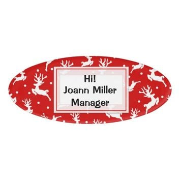 Christmas Name Tag