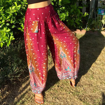 summer 2016, Yoga Pants, boho harem pants,gypsy hipster loose pants,indie clothing,Baggy pants,Loose alladin Pants,gift women,trending items
