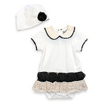 Harry & Violet 2-Piece Victorian Baby Bodysuit Set