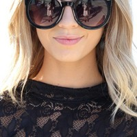 SABO SKIRT Round Sunglasses - Black - $16.00