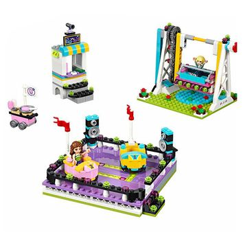 Legoing 41133 Amusement Park Bumper Cars 424 Pcs Mini Bricks Set Sale Friends Series Building Blocks Toys For Children