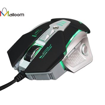 Malloom 2017 Rechargeable Computer Mouse Game New 3200DPI