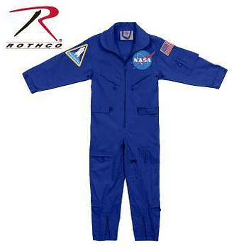 Kids NASA Flight Coveralls With Official NASA Patch